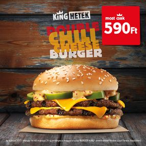 DOUBLE CHILI CHEESE BURGER!